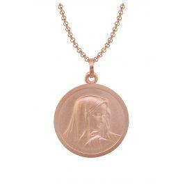 trendor 79527 Silber-Halskette mit Madonna roségold
