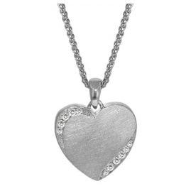 trendor 35896 Silver Necklace with Heart Pendant