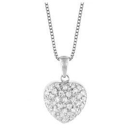 trendor 35911 Silber Kette mit Herz-Anhänger