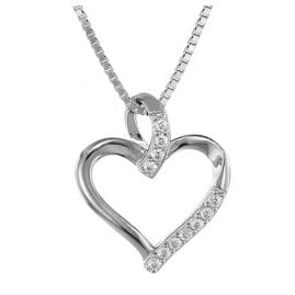 trendor 35931 Silver Pendant Heart with Necklace