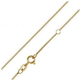 trendor 35913 Damen Silber-Halskette gold-plattiert 42/40 cm