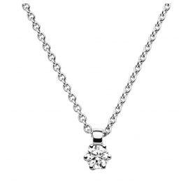 trendor 532526 Diamant-Anhänger 0,10 an Halskette Weißgold 585/14K