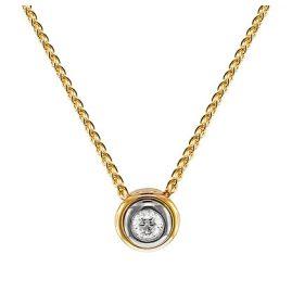 trendor 532509 Gold Damenhalskette mit Brillant