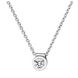 trendor 532520 Weißgold Damen-Halskette mit Diamant-Anhänger