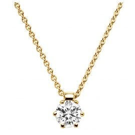 trendor 532533 Damenhalskette Gold mit Diamant-Anhänger