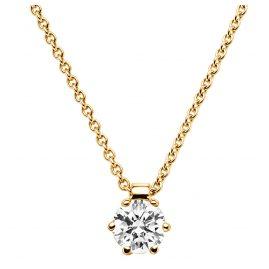 trendor 532530 Gelbgold Damen-Halskette mit Diamant-Anhänger