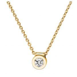 trendor 532523 Damen Gold-Halskette mit Diamant-Anhänger