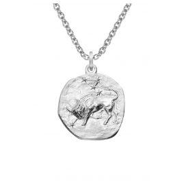 trendor 08445 Silber Sternzeichen Stier mit Halskette
