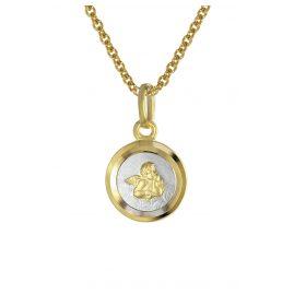 trendor 08560 Engel mit Kinder-Halskette Gold 333