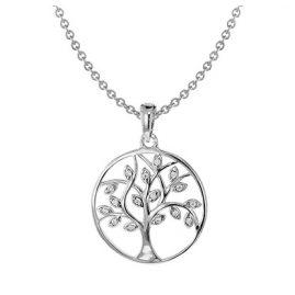 trendor 08540 Silber-Halskette mit Lebensbaum-Anhänger