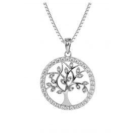 trendor 08544 Damen-Silberkette mit Lebensbaum-Anhänger