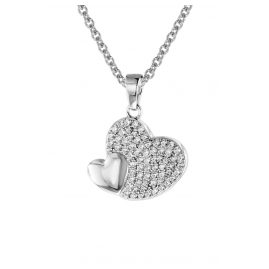 trendor 08607 Silver Pendant Shiny Heart With Necklace