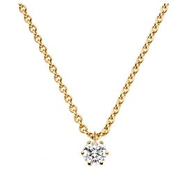 trendor 532654 Collier mit Diamant 0,15 kt. Gold 585