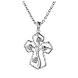 trendor 08820 Kreuz mit Lebensbaum Schmuckset Silber 925