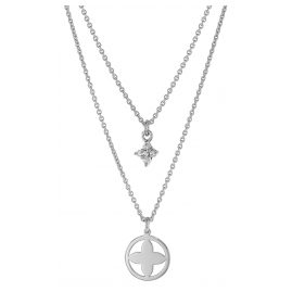 trendor 75066 Necklace For Women 925 Sterling Silver Double Row