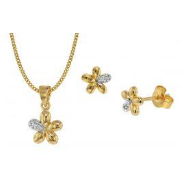 trendor 75109 Kinder-Schmuckset Blume 333 Gold/8 Karat