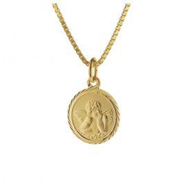 trendor 75214 Schutzengel Gold 585 (14 Karat) mit Goldplattierter Kette