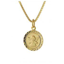 trendor 75323 Engel-Anhänger für Kinder Gold 585 (14 Karat) Vergoldete Kette