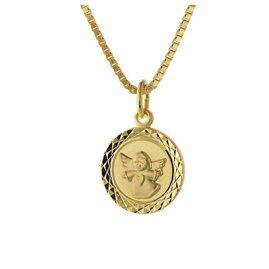trendor 75324 Engel-Anhänger für Kinder Gold 585 (14 Karat) Vergoldete Kette