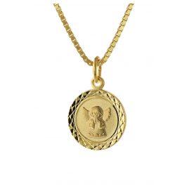 trendor 75325 Halskette für Kinder Engel Gold 585 (14 Karat) Vergoldete Kette