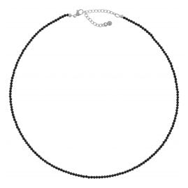 trendor 75345 Damen-Halskette Schwarzer Spinell 40 cm