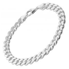 trendor 85895 Armband für Männer 925 Silber Panzerkette Massiv Breite 8,2 mm