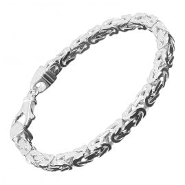 trendor 86106 Silber Herren-Armband Königskette