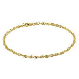 trendor 50521 Armband Frauen 333 Gold Singapur 2,4 mm