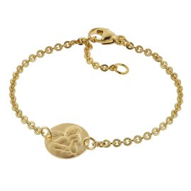 trendor 75089 Bracelet for Children 333 Gold/8 ct with Angel Plate 16 cm