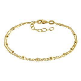 trendor 75132 Armband für Mädchen 925 Silber Vergoldet 16 cm