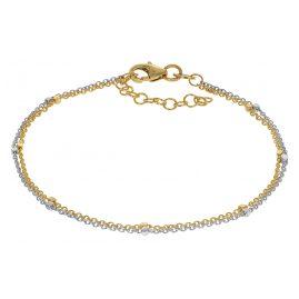 trendor 75201 Armband für Frauen Gold 375 (9 Karat) Zweireihig Bicolor