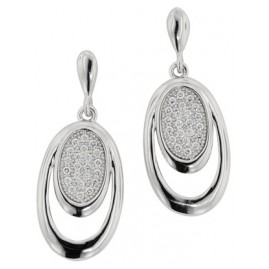 trendor 65144 Silber Ohrhänger mit Zirkonias
