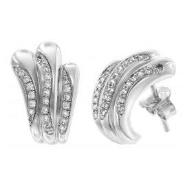 trendor 65113 Silber Ohrringe mit Zirkonias