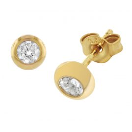 trendor 51825 Gold Ohrringe mit Zirkonia