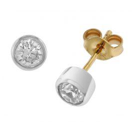 trendor 51849 Gold Ohrstecker mit Zirkonia