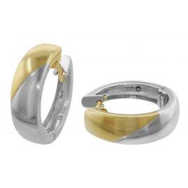 trendor 35385 Creolen Bicolor Gold-Ohrringe