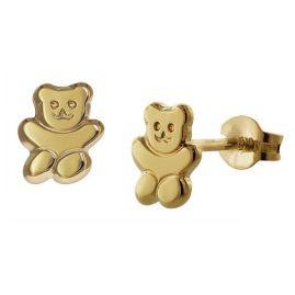 trendor 35739 Teddybär Gold-Ohrringe