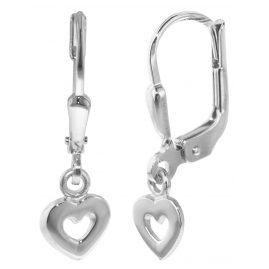 trendor 35836 Silber Kinder-Ohrringe mit Herzchen