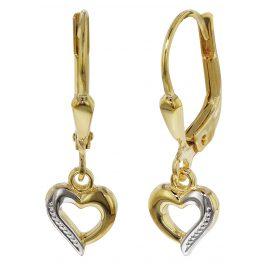 trendor 35816 Kids Gold Earrings with Heart