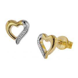 trendor 35817 Gold-Ohrschmuck Offenes Herz