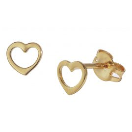 trendor 35818 Kinder Gold-Ohrringe Offenes Herz
