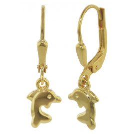trendor 35918 Delfin Ohrhänger Gold