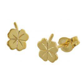 trendor 35924 Cloverleaf Earrings Gold