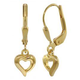 trendor 35929 Ohrhänger Gold Herzchen