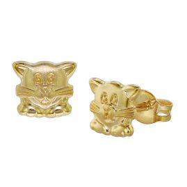 trendor 08484 Gold Kinder-Ohrringe Katze 333/8 Karat