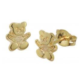 trendor 08486 Children's Stud Earrings Teddy 333/8K Gold