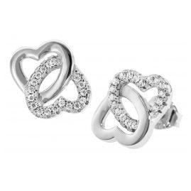 trendor 08604 Silber Ohrringe Verschlungene Herzen