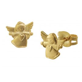 trendor 08755 Kinder-Ohrringe Engel Gold 585