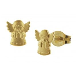 trendor 08756 Girls Earrings Praying Angel Gold 585/14 ct