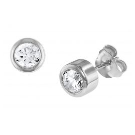 trendor 08767 Silver Earrings with Cubic Zirconias